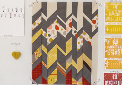 Deconstructed Chevron Mini-quilt